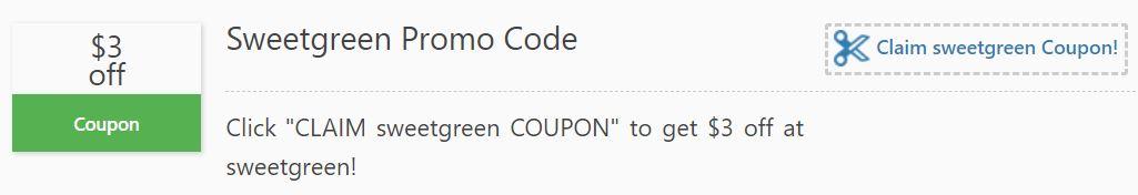 sweetgreen coupon